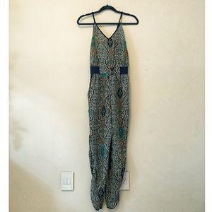 Pants - Strappy paisley jumpsuit